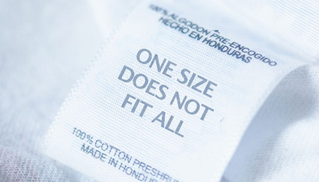 onesize-doesnt-fit-all